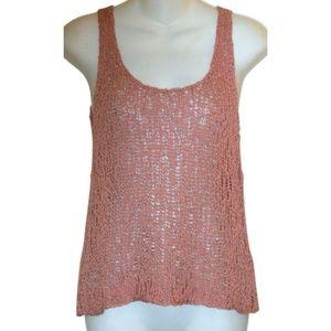 Eileen Fisher Dusty Rose Knit Tank Top